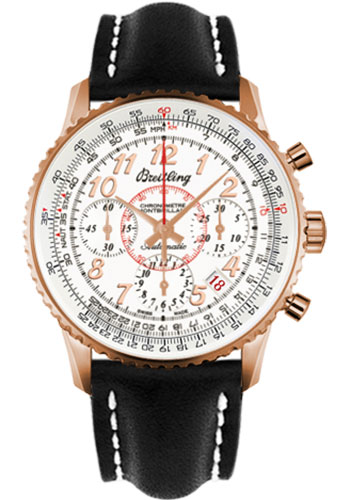 Breitling Watches - Montbrillant 01 Red Gold Limited Edition - Style No: RB013112/G736-leather-black-deployant