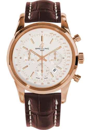 Breitling Watches - Transocean Chronograph Red Gold - Croco Strap - Tang - Style No: RB015212/G738-croco-brown-tang