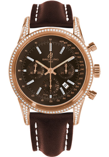 Breitling Watches - Transocean Chronograph Red Gold - Dia Case - Leather Strap - Deployant - Style No: RB0152AF/Q596-leather-brown-deployant