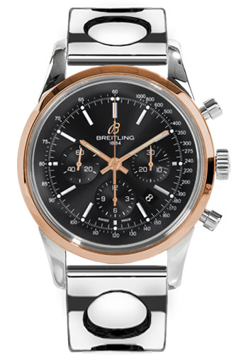 Breitling Watches - Transocean Chronograph Steel and Gold - Bracelet - Style No: UB015212/BC74-air-racer-steel