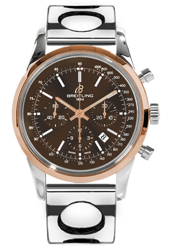 Breitling Watches - Transocean Chronograph Steel and Gold - Bracelet - Style No: UB015212/Q594-air-racer-steel