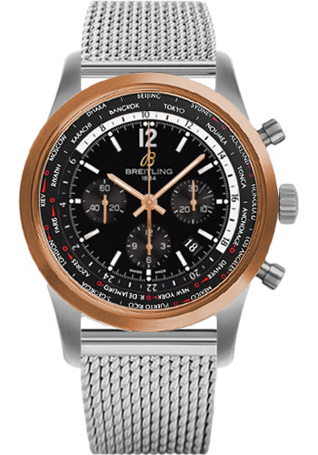 Breitling Watches - Transocean Unitime Pilot Steel and Red Gold - Bracelet - Style No: UB0510U4/BC26-ocean-classic-steel