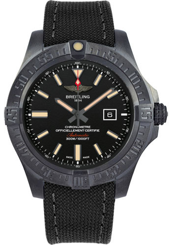 Breitling Watches - Avenger Blackbird 48mm - Military Strap - Style No: V1731010/BD12-military-anthracite-tang