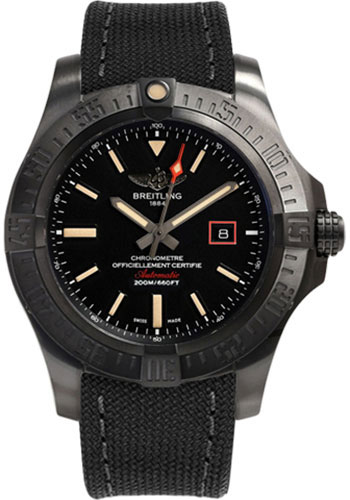 Breitling Watches - Avenger Blackbird 44 - Style No: V1731110/BD74-military-anthracite-tang