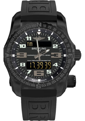 Breitling Watches - Emergency Black Titanium - Diver Pro III Strap - Style No: V7632522/BC46-diver-pro-iii-black-deployant