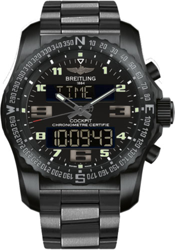 Breitling Watches - Cockpit B50 Black Titanium Case - Professional III Bracelet - Style No: VB501022/BD41-professional-iii-black-titanium