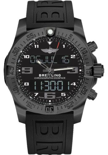 Breitling Watches - Exospace B55 Black Titanium - Twin Pro Strap - Style No: VB5510H1/BE45-twinpro-anthracite-black-pushbutton-folding