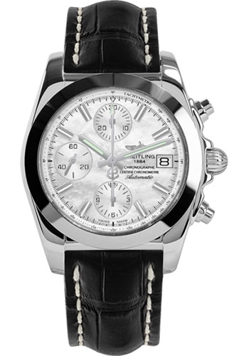 Breitling Watches - Chronomat 38 Tungsten Bezel - Croco - Tang - Style No: W1331012/A774-croco-black-tang
