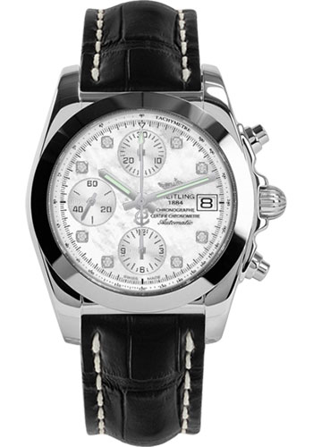 Breitling Watches - Chronomat 38 Tungsten Bezel - Croco - Tang - Style No: W1331012/A776-croco-black-tang