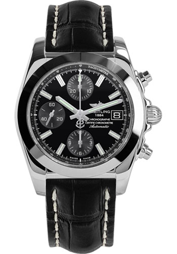 Breitling Watches - Chronomat 38 Tungsten Bezel - Croco - Tang - Style No: W1331012/BD92-croco-black-tang
