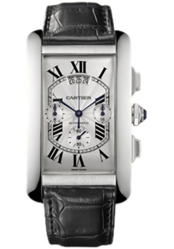 Cartier Watches - Tank Americaine Extra Large - White Gold - Style No: W2609456
