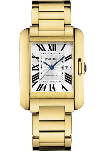 Cartier Watches - Tank Anglaise Yellow Gold - Style No: W5310015
