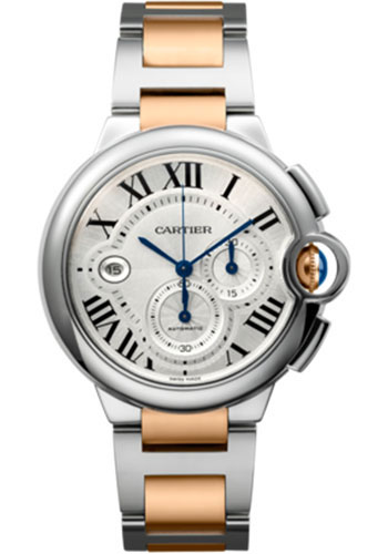 Cartier Watches - Ballon Bleu 44mm - Steel and Pink Gold - Style No: W6920063