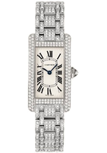 Cartier Watches - Tank Americaine Small - White Gold - Style No: WB7044KN