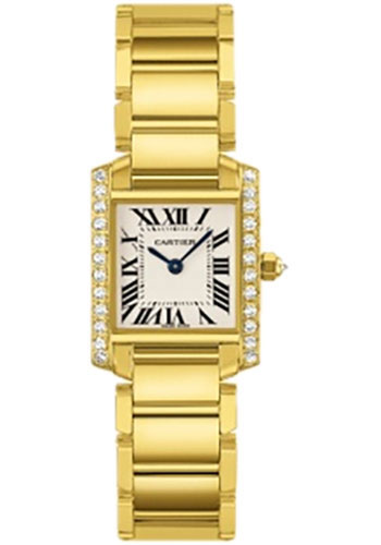 Cartier Watches - Tank Francaise Small - Yellow Gold - Style No: WE1001R8