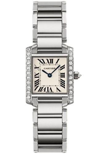 Cartier Watches - Tank Francaise Small - White Gold - Style No: WE1002S3