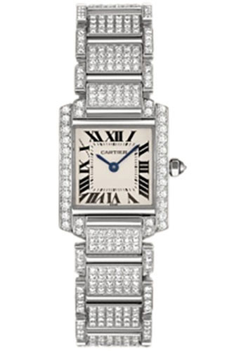 Cartier Watches - Tank Francaise Small - White Gold - Style No: WE1002SD
