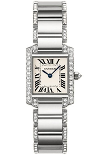 Cartier Watches - Tank Francaise Small - White Gold - Style No: WE1002SF