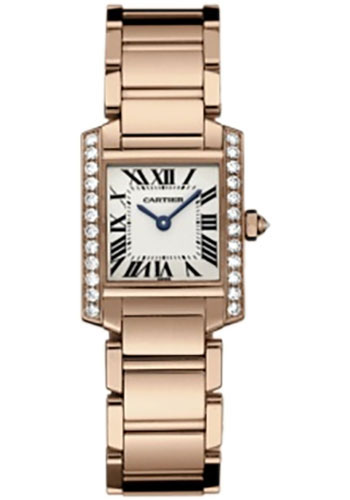 Cartier Watches - Tank Francaise Small - Pink Gold - Style No: WE10456H