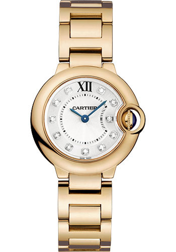 Cartier Watches - Ballon Bleu Pink Gold With Diamonds - Style No: WE902025
