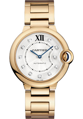 Cartier Watches - Ballon Bleu Pink Gold With Diamonds - Style No: WE902026