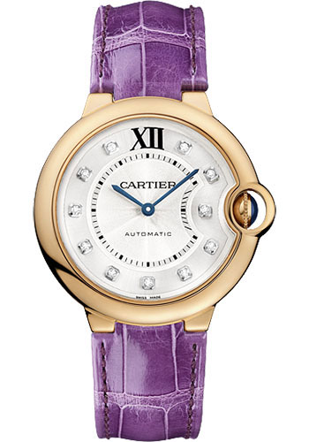 Cartier Watches - Ballon Bleu Pink Gold With Diamonds - Style No: WE902028