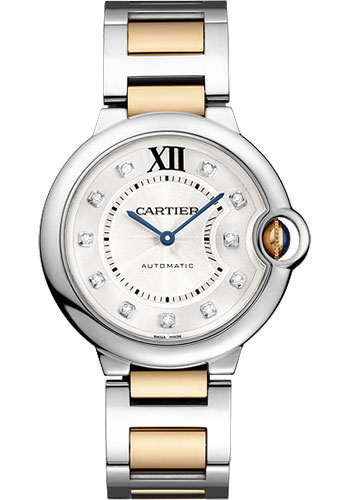 Cartier Watches - Ballon Bleu 36mm - Steel and Pink Gold - Style No: WE902031
