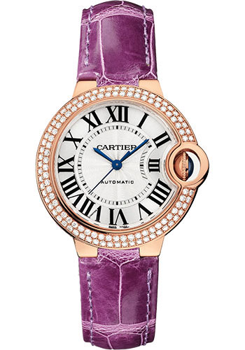 Cartier Watches - Ballon Bleu Pink Gold With Diamonds - Style No: WE902036