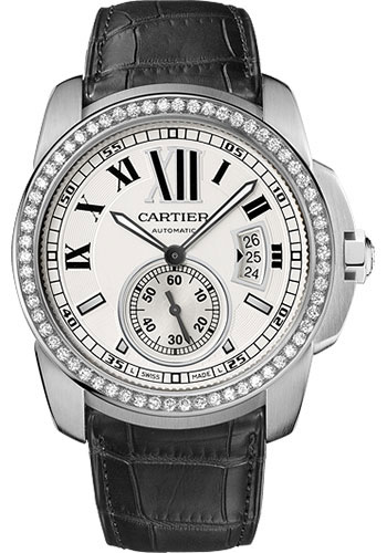 Cartier Watches - Calibre de Cartier 42mm - Automatic - White Gold - Style No: WF100003
