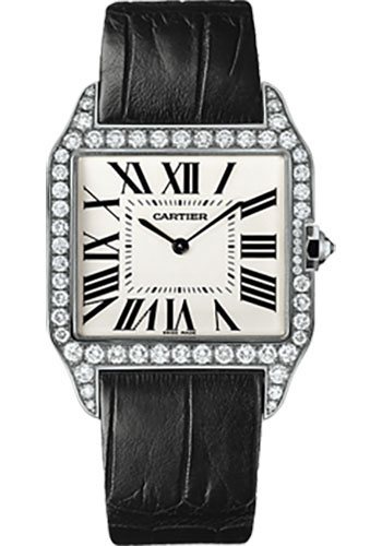 Cartier Watches - Santos Dumont Large - White Gold - Style No: WH100651