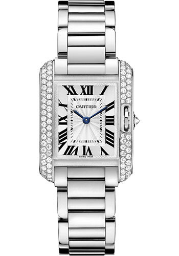Cartier Watches - Tank Anglaise White Gold With Diamonds - Style No: WT100008