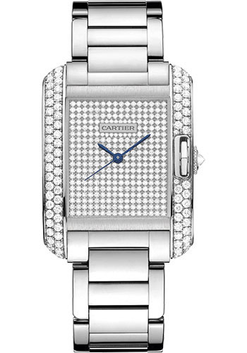 Cartier Watches - Tank Anglaise White Gold With Diamonds - Style No: WT100011
