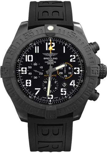 Breitling Watches - Avenger Hurricane 50mm - Diver Pro III Strap - Deployant - Style No: XB0170E4/BF29-diver-pro-iii-black-folding