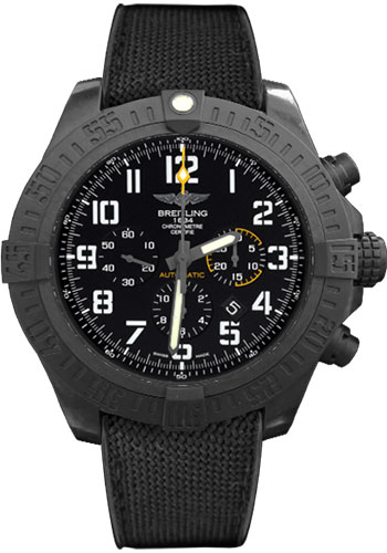 Breitling Watches - Avenger Hurricane 50mm - Military Rubber Strap - Style No: XB0170E4/BF29-military-rubber-anthracite-black-folding