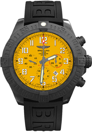 Breitling Watches - Avenger Hurricane Diver Pro III Strap - Deployant - Style No: XB0170E4/I533-diver-pro-iii-black-folding