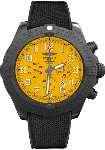 Breitling Watches - Avenger Hurricane 50mm - Military Rubber Strap - Style No: XB0170E4/I533-military-rubber-anthracite-black-folding