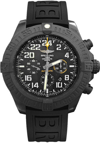 Breitling Watches - Avenger Hurricane Diver Pro III Strap - Deployant - Style No: XB1210E4/BE89-diver-pro-iii-black-folding