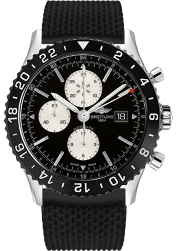 Breitling Watches - Chronoliner Stainless Steel - Style No: Y2431012/BE10-aero-classic-rubber-black-deployant