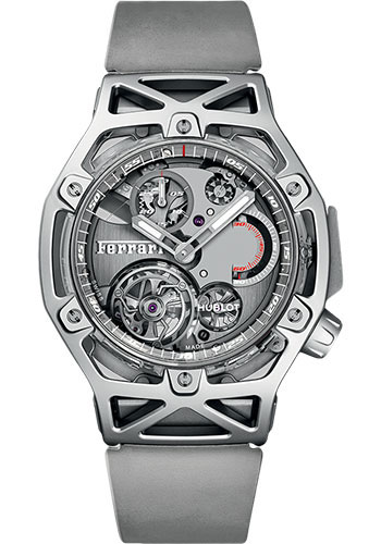 Hublot Watches - Techframe Ferrari Tourbillon Chronograph Sapphire - Style No: 408.JW.0123.RX