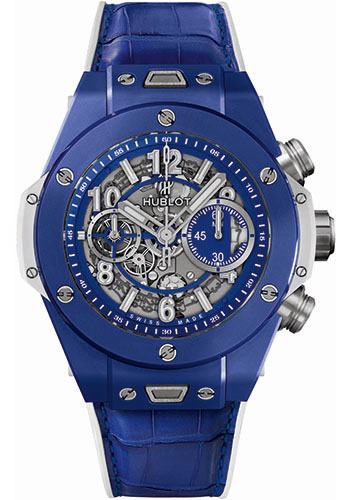 Hublot Watches - Big Bang 41mm Blue Cannes and Saint-Tropez - Style No: 411.EX.5129.RX