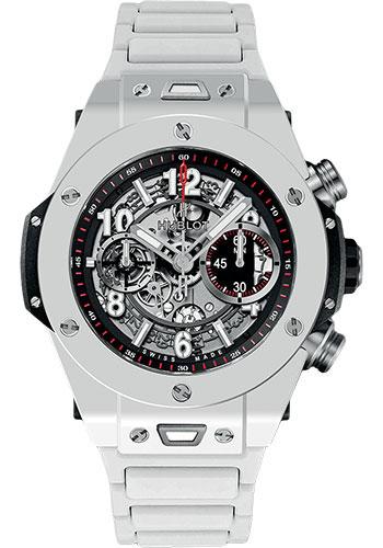Hublot Watches - Big Bang 45mm Unico White Ceramic - Style No: 411.HX.1170.HX