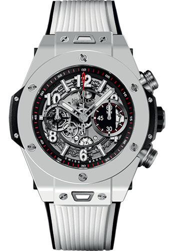 Hublot Watches - Big Bang 45mm Unico White Ceramic - Style No: 411.HX.1170.RX