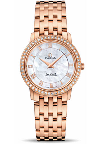 Omega Watches - De Ville Prestige Quartz 27.0 mm - Red Gold - Style No: 413.55.27.60.05.002