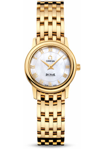Omega Watches - De Ville Prestige Quartz 22 mm - Yellow Gold - Style No: 4170.71.00