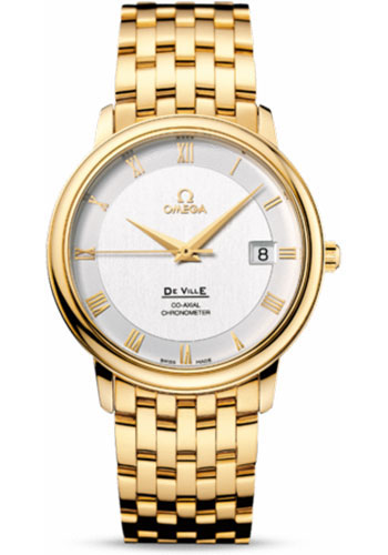 Omega Watches - De Ville Prestige Co-Axial 36.5 mm - Yellow Gold - Style No: 4174.31.00