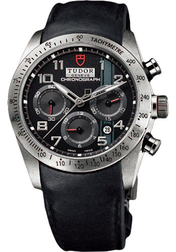 Tudor Watches - Fastrider Chronograph - Black Leather Strap - Style No: 42000-blackleather-blackarabic