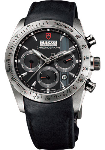 Tudor Watches - Fastrider Chronograph - Black Leather Strap - Style No: 42000-blackleather-blackindex