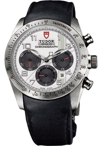 Tudor Watches - Fastrider Chronograph - Black Leather Strap - Style No: 42000-blackleather-whitearabic
