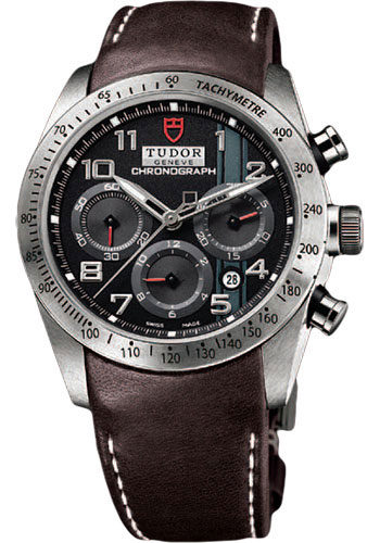 Tudor Watches - Fastrider Chronograph - Brown Leather Strap - Style No: 42000-brownleather-blackarabic