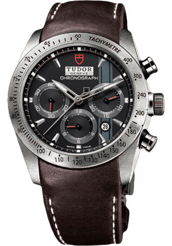Tudor Watches - Fastrider Chronograph - Brown Leather Strap - Style No: 42000-brownleather-blackindex